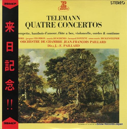 PAILLARD, JEAN-FRANCOIS telemann; quatre concertos OS-2327-RE - front cover