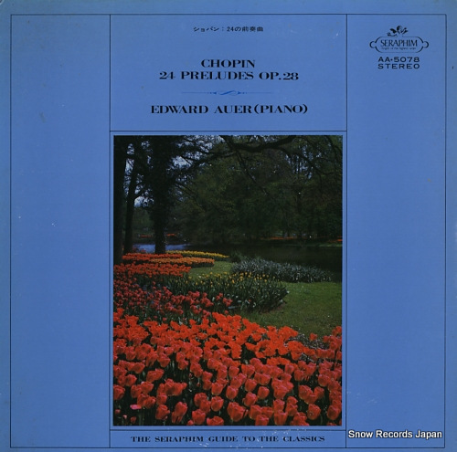 AUER, EDWARD chopin; 24 preludes op.28 AA.5078 - front cover