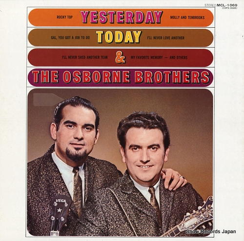 OSBORNE BROTHERS, THE yesterday, today, and the osborne brothers MCL-1069 - front cover