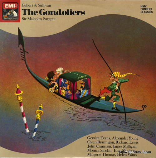SARGENT, MALCOLM gilbert & sullivan; the gondoliers SXDW3027 - front cover