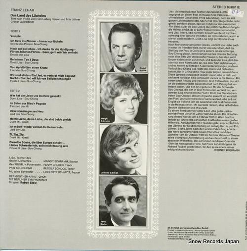 STOLZ, ROBERT lehar; das land des lachelns 89-881-IE - back cover