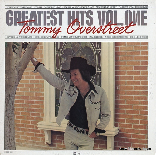 OVERSTREET, TOMMY greatest hits vol.one DOSD-2027 - front cover