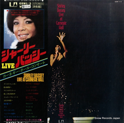 BASSEY, SHIRLEY live at carnegie hall GSW1/2 - front cover
