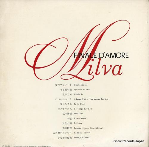 MILVA finale d'amore MW2016 - back cover