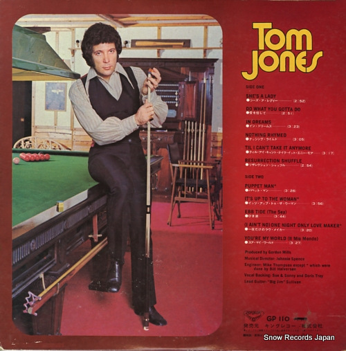 JONES, TOM sings she's a lady GP110 - back cover