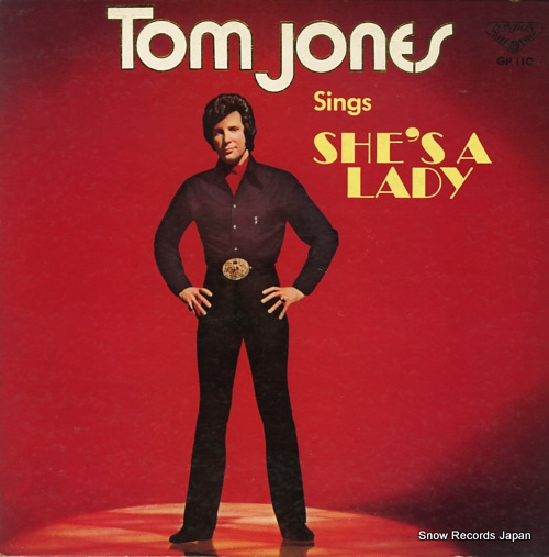 JONES, TOM sings she's a lady GP110 - front cover