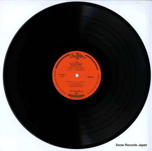 V/A lehar; das land des lacheins / mosoly orszaga / the land of smiles LPX6541 - disc