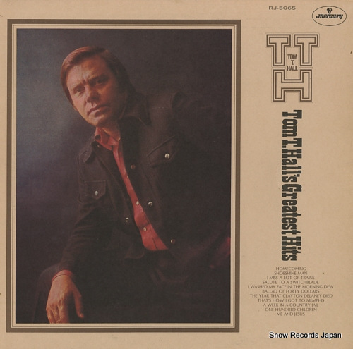 HALL, TOM T. tom t. hall's greatest hits RJ-5065 - front cover
