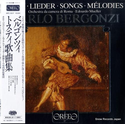 カルロ・ベルゴンツィ トスティ:歌曲集 28PC-10017 / S073831A