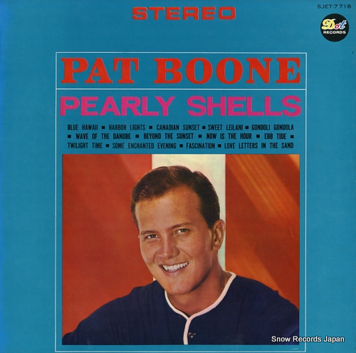 BOONE, PAT pearly shells SJET-7718 - front cover