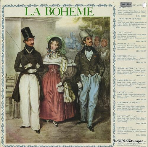 GHIGLIA, ERA puccini; la boheme LDM.30132 - back cover