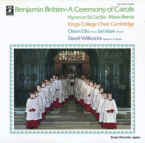 WILLCOCKS, DAVID britten; a ceremony of carols EAC-80383 - front cover