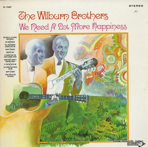 WILBURN BROTHERS, THE we need a lot more happiness DL75087 - front cover