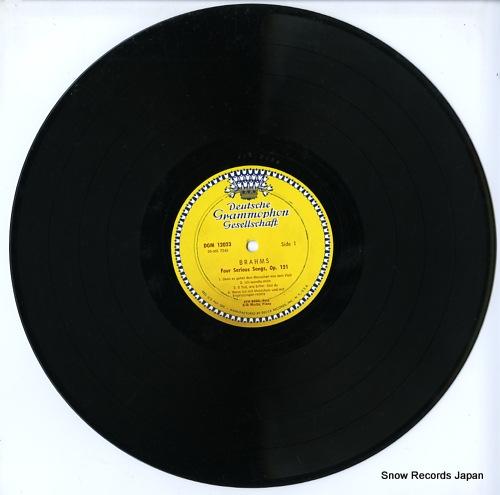 BORG, KIM brahms; four serious songs DGM12023 - disc