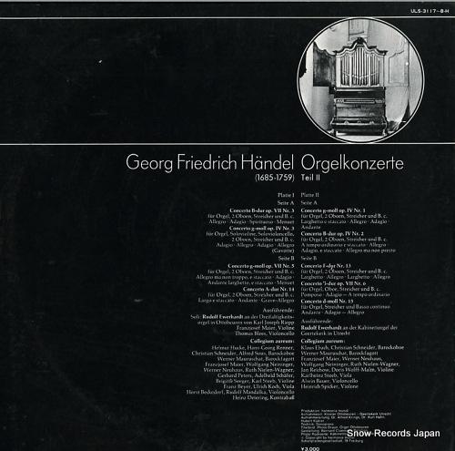 EWERHARDT, RUDOLF haendel; konzerte fur orgel & aorchester ULS-3117-8-H - back cover