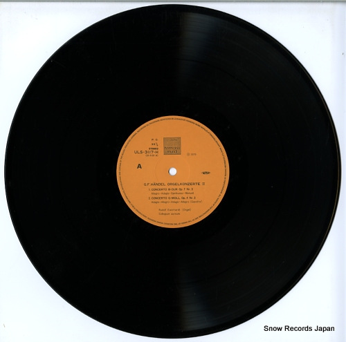 EWERHARDT, RUDOLF haendel; konzerte fur orgel & aorchester ULS-3117-8-H - disc