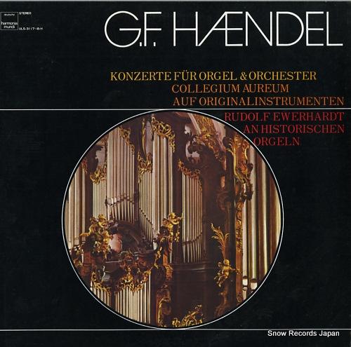 EWERHARDT, RUDOLF haendel; konzerte fur orgel & aorchester ULS-3117-8-H - front cover