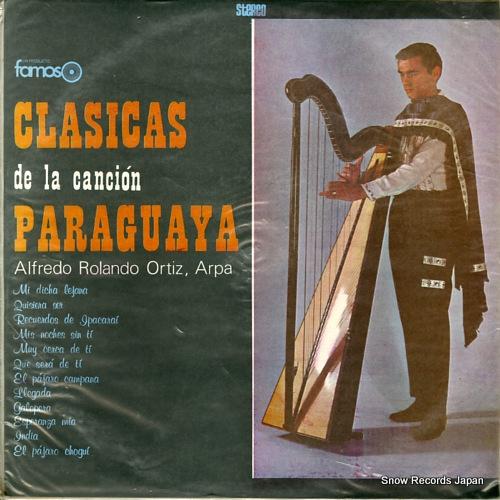ORTIZ, ALFREDO ROLANDO clasicas de la cancion paraguaya ELDZ-821 / LADO-1 / LDF-1015 - front cover