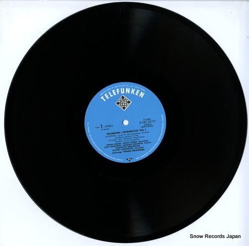 LEONHARDT, GUSTAV / FRANS BRUGGEN telemann; tafelmusik-teil i K19C-9270/1 - disc