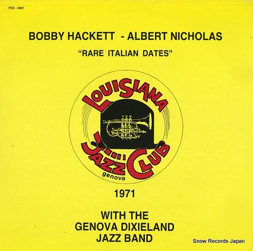 ボビー・ハケット/アルバート・ニコラス rare italian dates FDC-3001