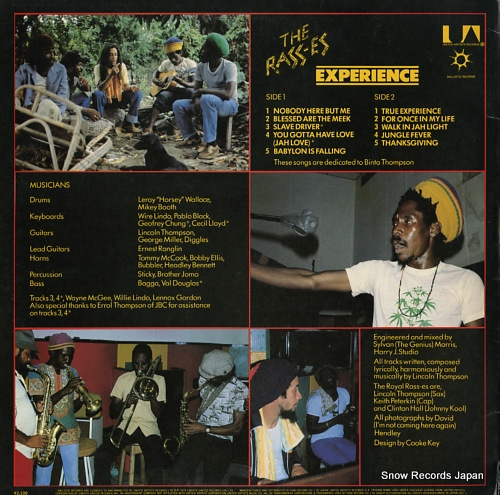 RASSES, THE experience GXI-1 - back cover