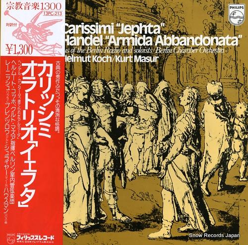 MASUR, KURT / HELMUT KOCH carissimi; jeefte-oratorio 13PC-213 - front cover