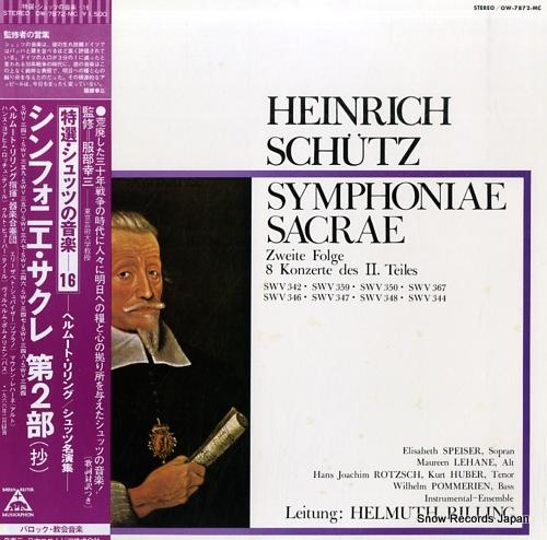 RILLING, HELMUTH schutz; symphoniae sacrae (zweite folge, 8 konzerte des ii. teiles) OW-7872-MC - front cover