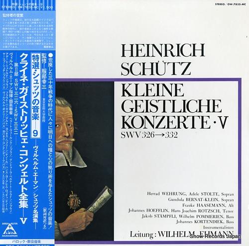 EHMANN, WILHELM schutz; kleine geistliche konzerte v OW-7835-MC - front cover