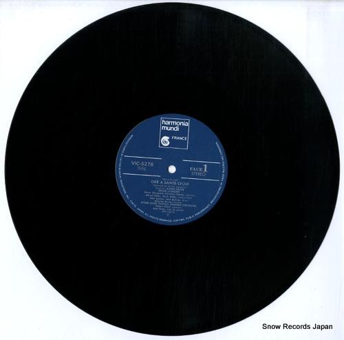 DELLER CONSORT ode a sainte cecile VIC-5278 - disc