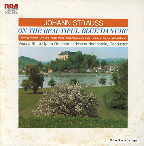 HORENSTEIN, JASCHA strauss; on the beautiful blue danube RVC-1018 - front cover