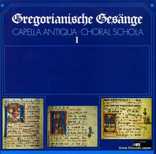 RUHLAND, KONRAD gregorianische gesange i ULS-3250-51-P - front cover