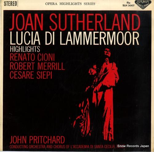 PRITCHARD, JOHN donizetti; lucia di lammermoor hightlights SLH3007 - front cover