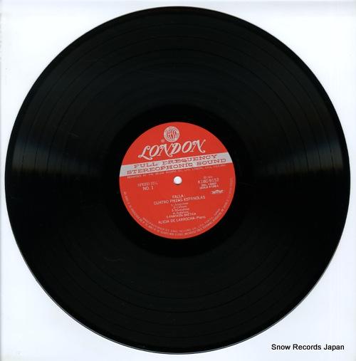 DE LARROCHA, ALICIA piano music of manuel de falla K18C-9152 - disc