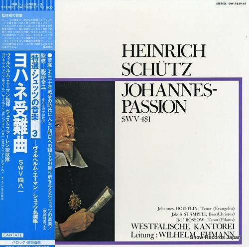 EHMANN, WILHELM schutz; johannes-passion swv481 OW-7829-KT - front cover