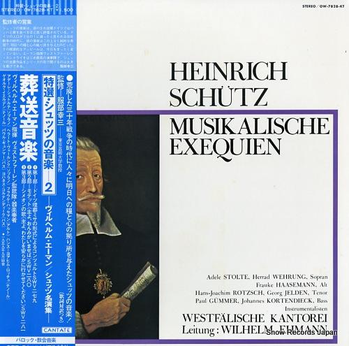 EHMANN, WILHELM schutz; musikalische exequien OW-7828-KT - front cover