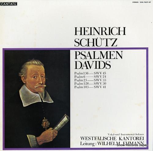 EHMANN, WILHELM schutz; psalmen davids OW-7827-KT - front cover