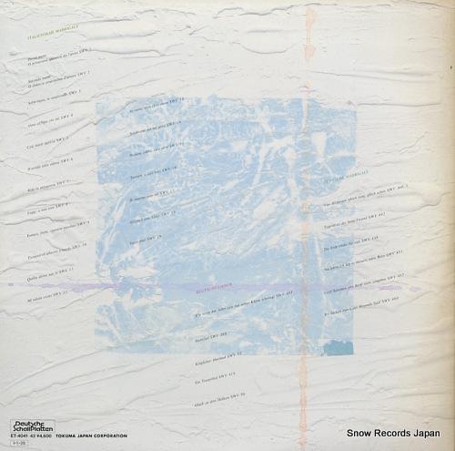 KNOTHE, DIETRICH schutz; italienische madrigale ET-4041-42 - back cover