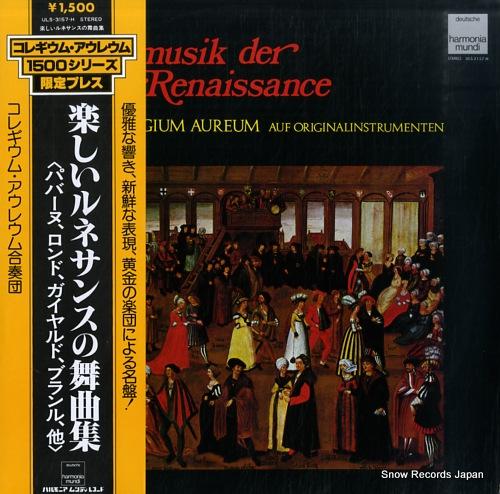 COLLEGIUM AUREUM tanzmusik der renaissance ULS-3157-H - front cover