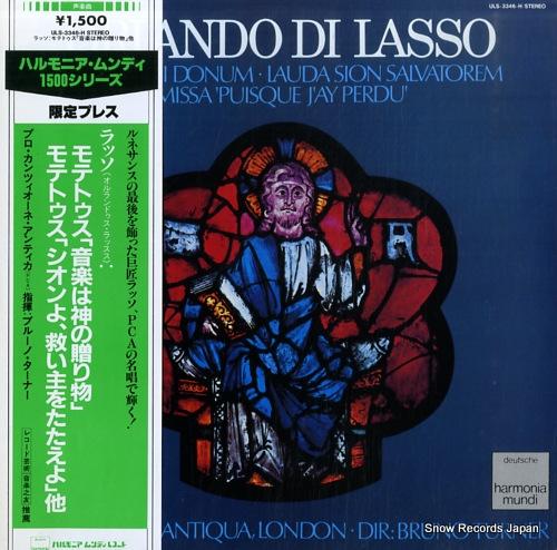 TURNER, BRUNO lasso; musica dei donum, lauda sion salvatorem ULS-3346-H - front cover