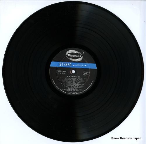 REDEL, KURT telemann; 3 concerti-suite concertante WST-17042 - disc