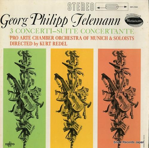 REDEL, KURT telemann; 3 concerti-suite concertante WST-17042 - front cover