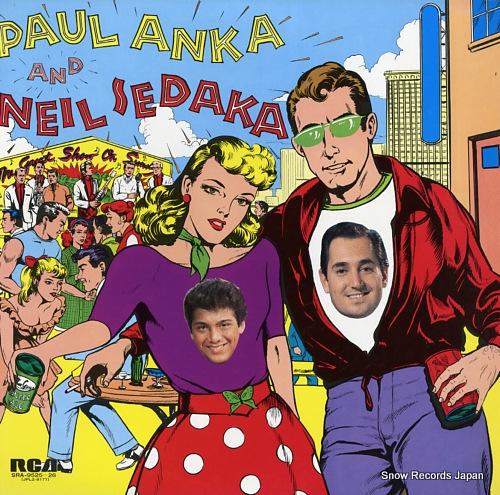 ANKA, PAUL, AND NEIL SEDAKA the great hits of paul anka and neil sedaka SRA-9525-26 - front cover