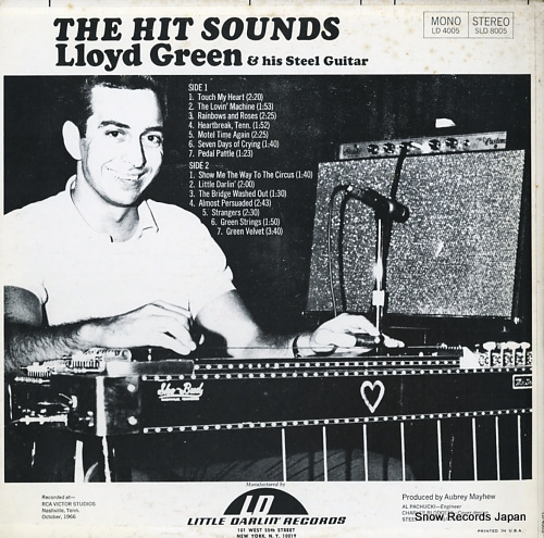 GREEN, LLOYD the hit sounds(lloyd green & ahis steel guitar) LD4005 - back cover