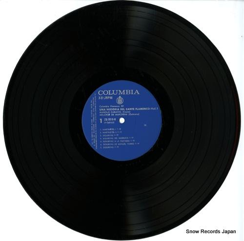 CARACOL, MANOLO / MELCHOR DE MARCHENA una historia del cante flamenco vol.1 ZQ-7018-H - disc