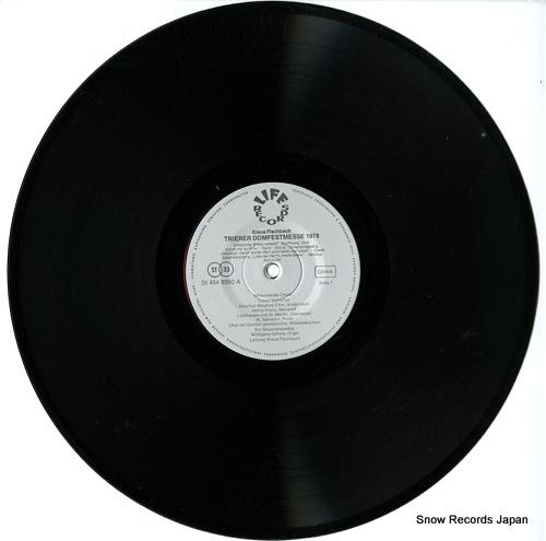 FISCHBACH, KLAUS trierer domfestmesse 1978 ST454-8950 - disc