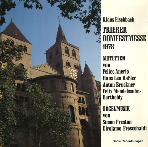 FISCHBACH, KLAUS trierer domfestmesse 1978 ST454-8950 - front cover