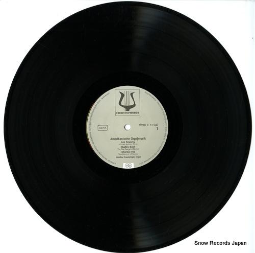 KAUNZINGER, GUNTHER amerikanische orgelmusik SCGLX73940 - disc