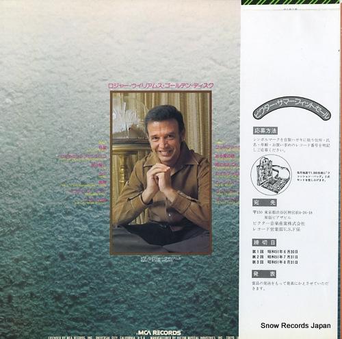 WILLIAMS, ROGER golden disc VIM-10004 - back cover