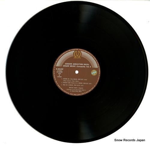 KRAFT, WALTER bach; organ music (complete) vol.iv H-4010-12V - disc