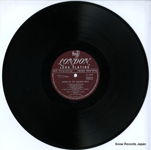HOLLYWOOD SOUNDSTAGE CHORUS, THE sing for listeners and lovers LC3039 - disc